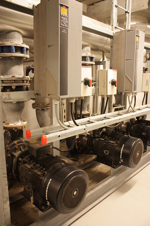 Efficient Grundfos equipment installed in the Crowne Plaza Copenhagen Towers