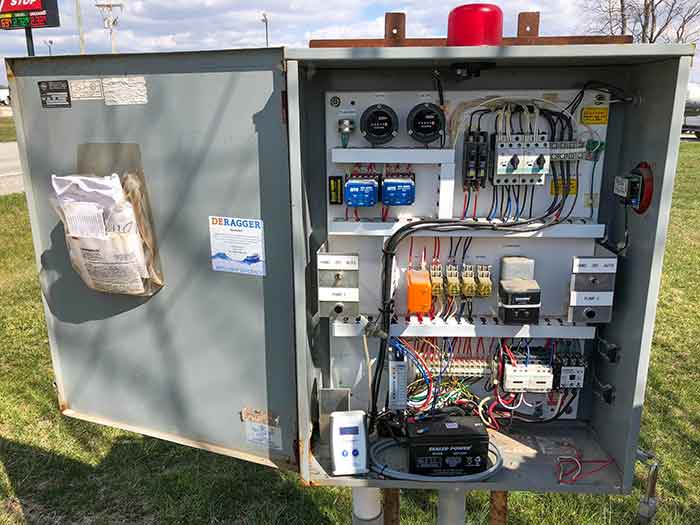 The installed pump monitoring system