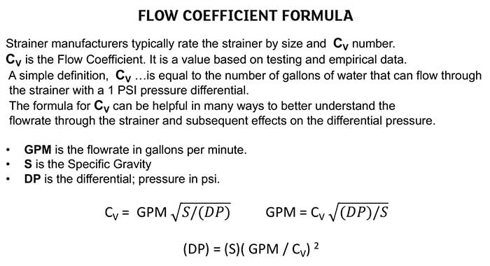 Flow Coefficient Formula