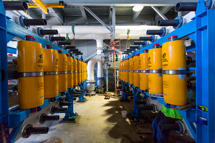Image 2. The Carlsbad Desalination Facility uses 144 energy recovery devices that recycle the pressure from the reverse-osmosis process and save an estimated 146 million kilowatt-hours of energy annually, according to the plant's operators.