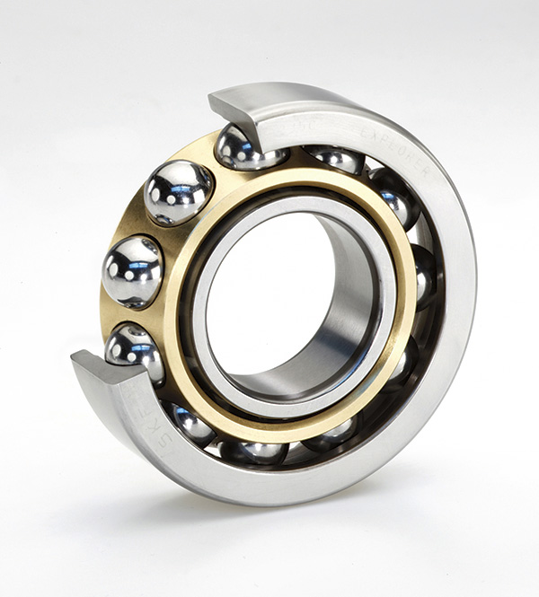 Single-row angular contact ball bearings