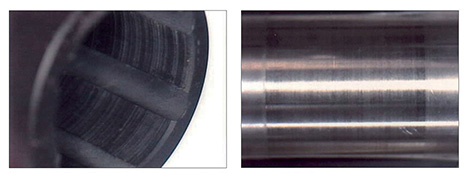 The wear of a thermoplastic composite