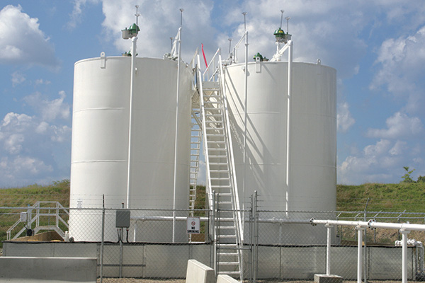In-the-field storage tanks
