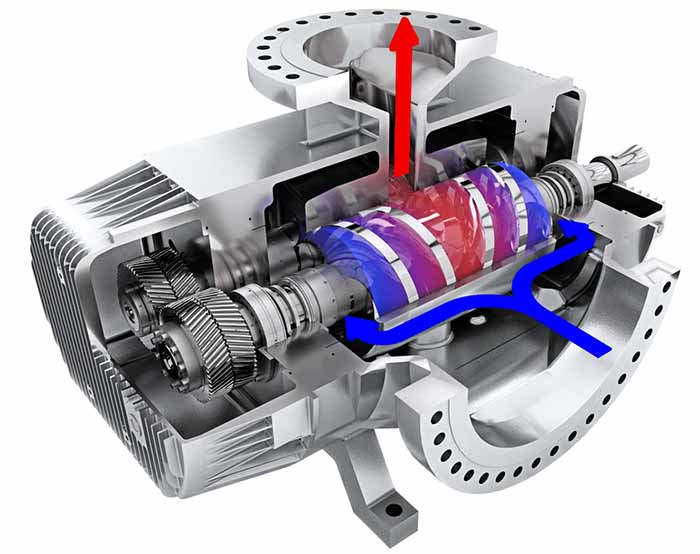 Twin screw multiphase pump