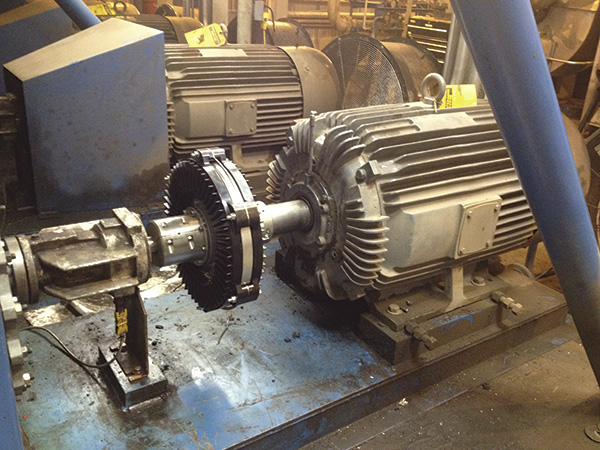 Smart couplings enhance a failing hot oil pump at a for Motor and pump coupling