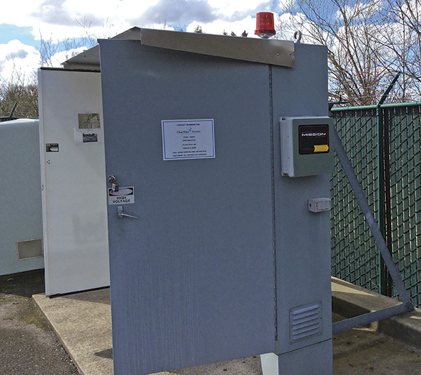 Image 1. An RTU monitors a Clean Water Services pump station. (Courtesy of Clean Water Services)