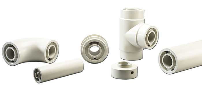 Double-containment pipe and fittings