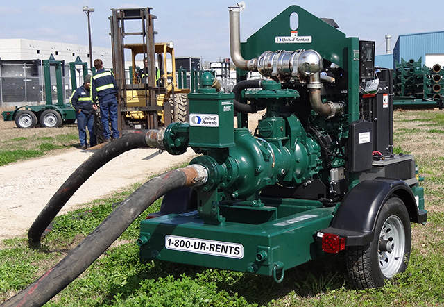 DOC Tier 4 Final engine on a portable pump