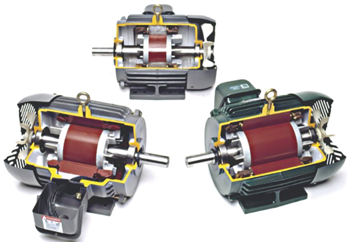 Figure 5.1 Typical induction motors