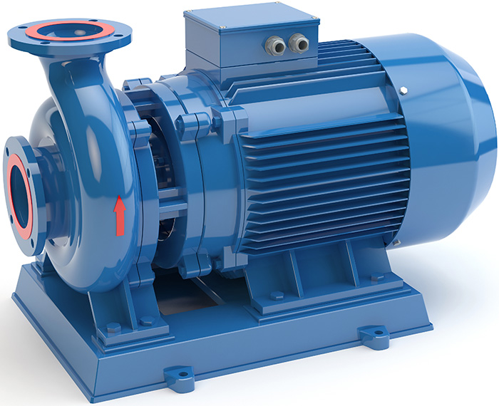 Blue electric water pump