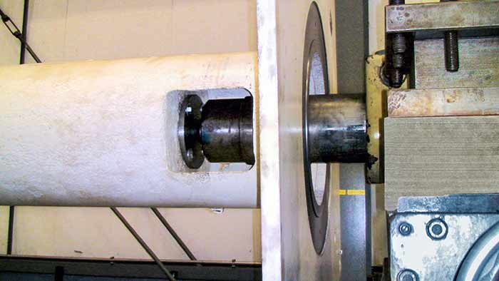 remachined motor pedestal