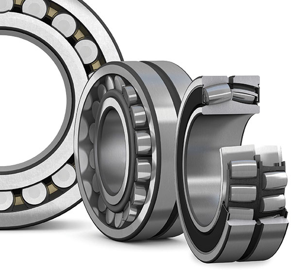 A high proportion of bearings used in paper-making machines are spherical roller bearings, which can accommodate considerable radial loads in combination with axial loads. They also permit misalignment between shaft and housing, which is especially important for paper machines where bearings are mounted in separate housings far apart.