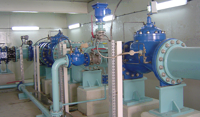 Relief valve in irrigation pump system