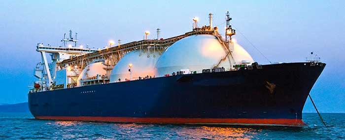 Image 1. Liquid natural gas must be liquified and cooled to ship