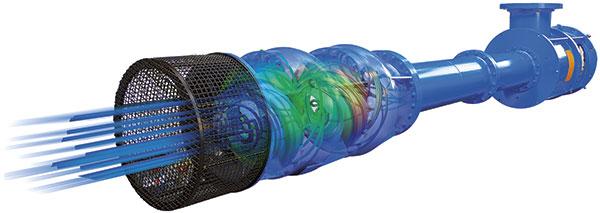 Vertical turbine pump designed using CFD