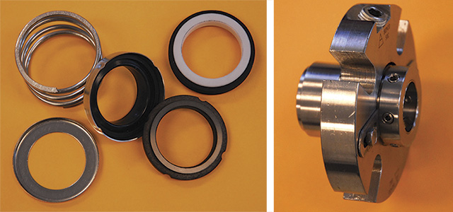 Image 1. Component (left) and cartridge (right) mechanical seals