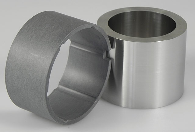 Image 1. A bearing made of the proprietary thermoplastic material and a stainless steel shaft (Images and graphics courtesy of Greene, Tweed & Co.)