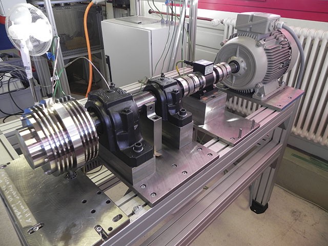 Image 2. The testing rig used to confirm the bearing's ability to survive in the end user's specified