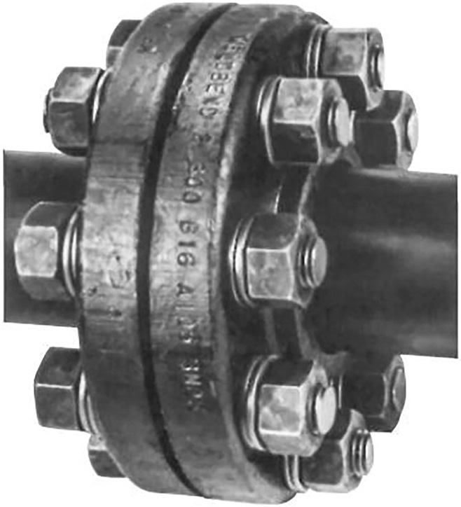 Typical bolted flange assembly
