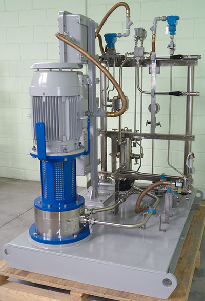 Seal gas booster skid