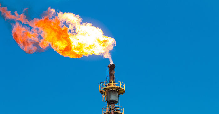 Gas flaring is the process of burning off associated gas