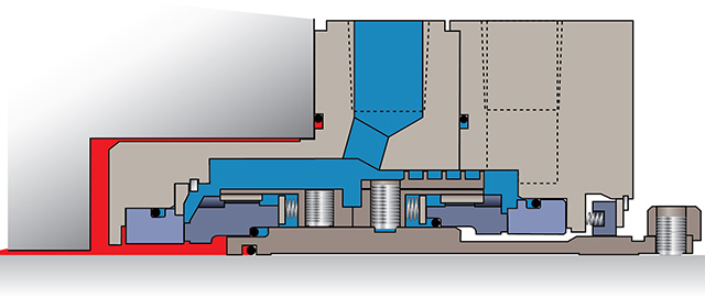 Figure 2. Dual pressurized liquid barrier seal (Courtesy of Flowserve)