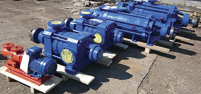 pumps awaiting delivery