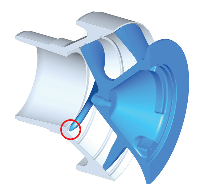 impeller tip