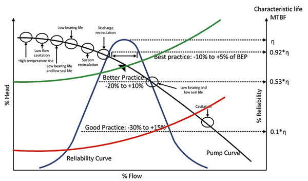 Design and typical performance curves of the pump system