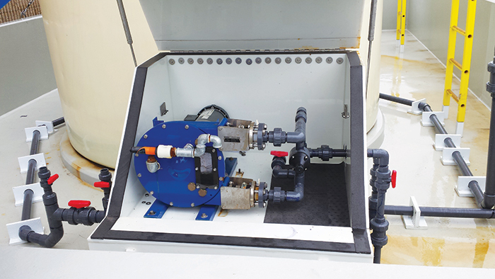 Peristaltic pumps are ideal for various chemical-handling applications in wastewater treatment