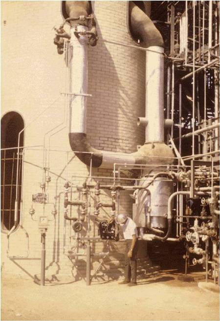 The original reactor ebullating pump location Middle East, installed in 1966
