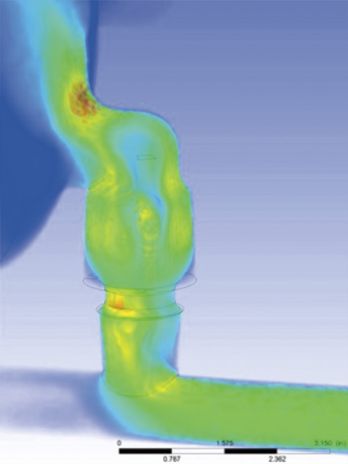 Inlet manifold check valve CFD