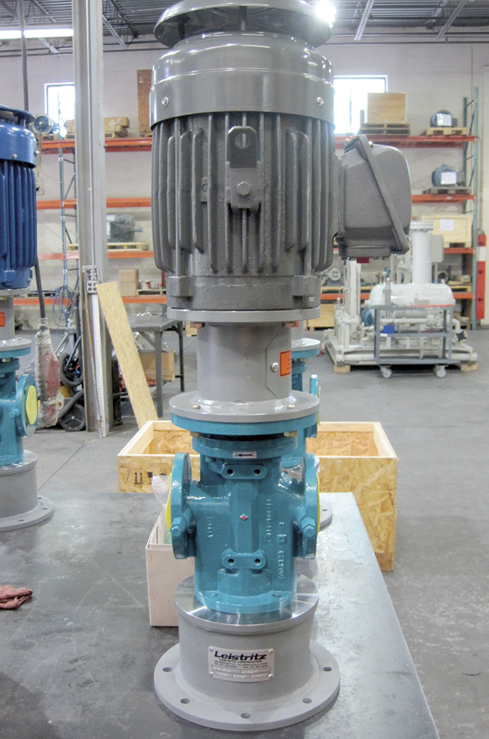 Image 2. Vertical pedestal-mounted pump/motor