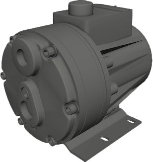 Typical flat diaphragm pumps