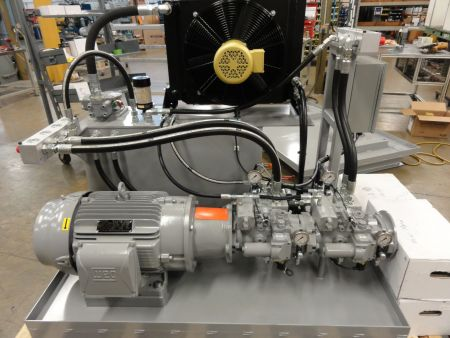Aftermarket system for a paper converting customer with proportional control pumps. (Images courtesy of Kundinger, Inc.)