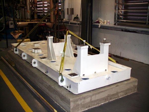 installing  boiler feedwater pump baseplate