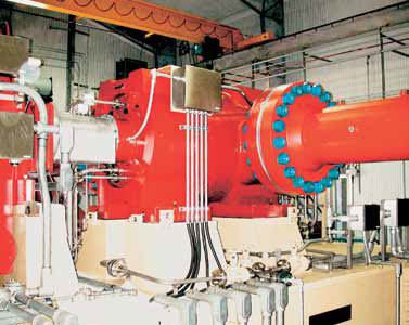 Centrifugal compressor fitted with magnetic bearings