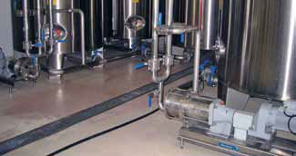Transfer line from sweetener storage