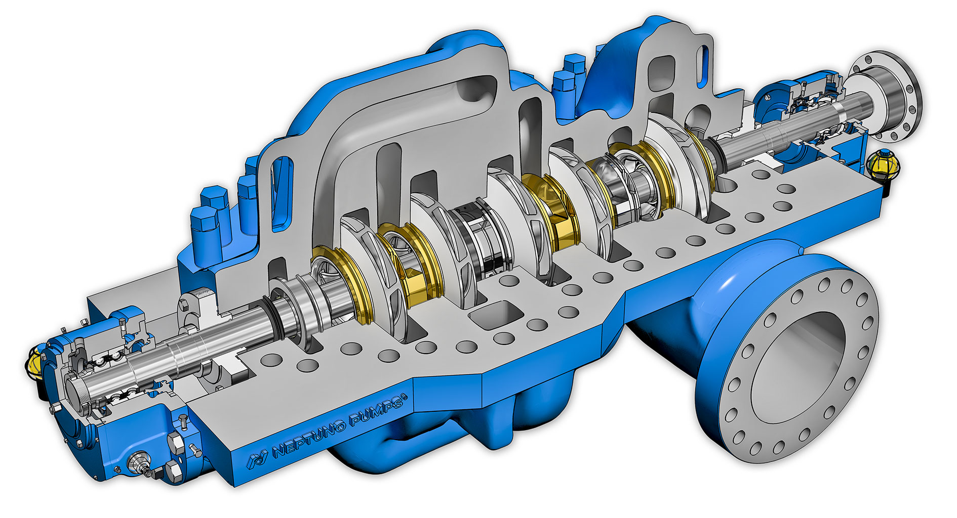 Axial split case pumps are ideal for high-pressure, corrosive applications