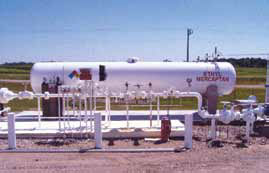 Ethyl mercaptan is required to be added to propane to meet DOT requirements for