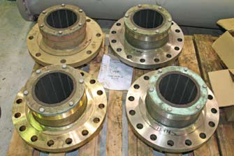 AR-1 bearings installed in flanged bearing housings.