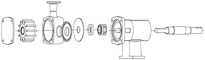 Typical pedestal mount FIP configuration