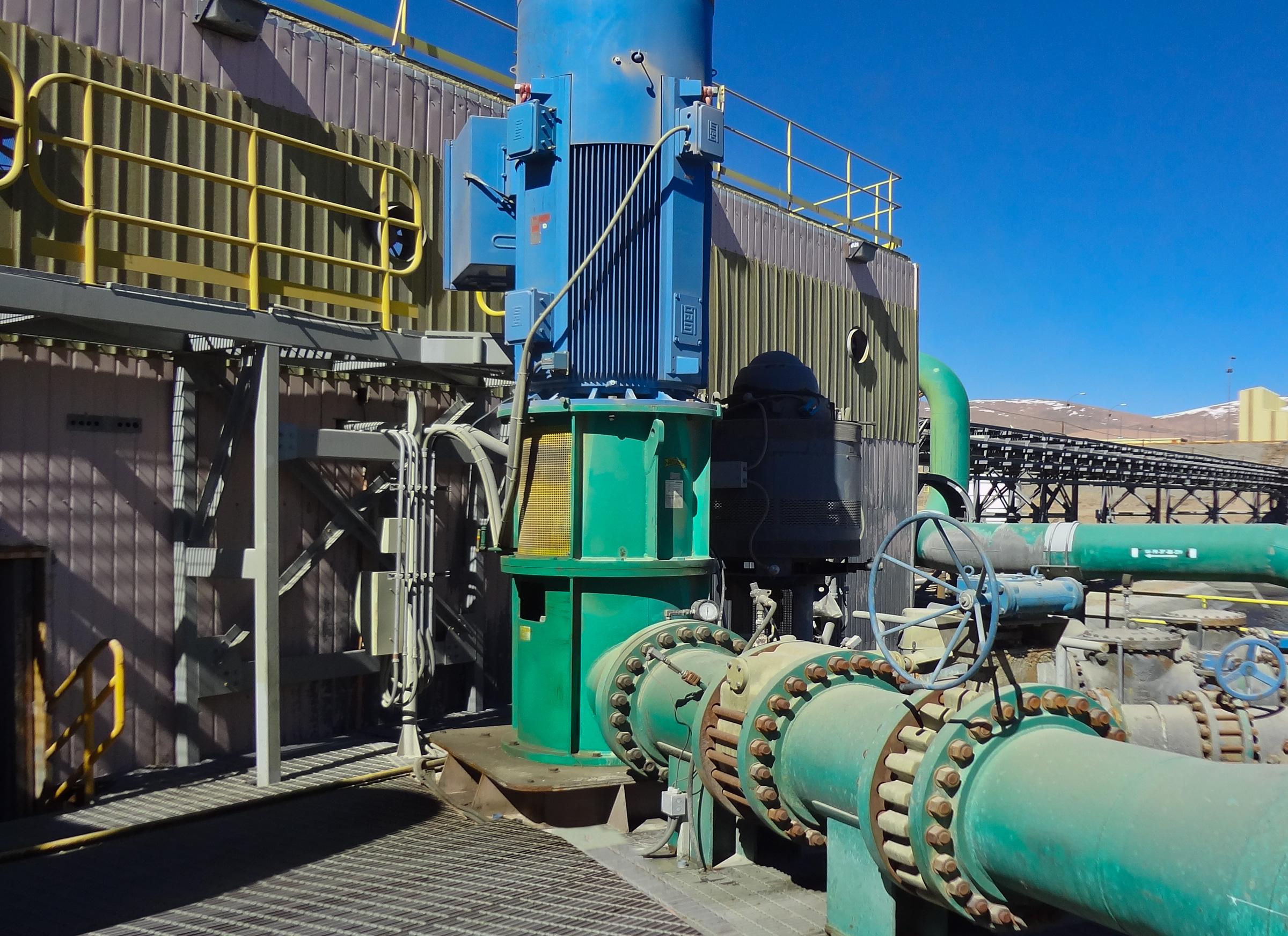 Figure 1. A reclaim water system employing a 1,400-horsepower pump