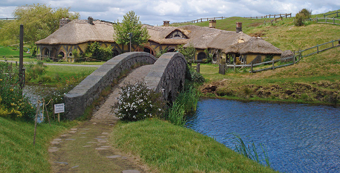 The Hobbit's New Zealand movie set now has a new pub. Photo courtesy of Orenco Systems®, Inc.