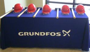 Grundfos Groundbreaking Hard Hats