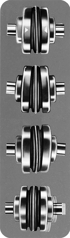 The four types of misalignment that couplings can accomodate