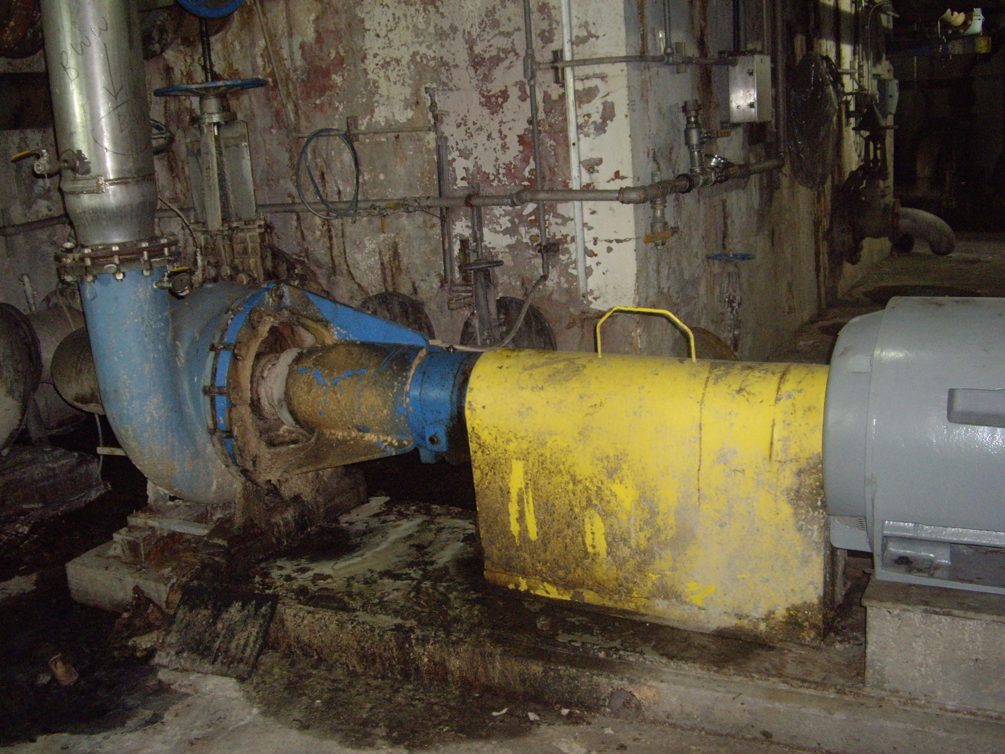Oversized pump with a failed motor