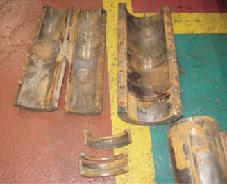 Destroyed shaft coupling and hardware