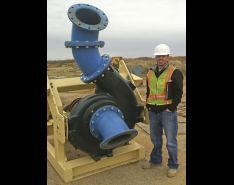 Barge-Mounted Centrifugal Pumps Eliminate Vortex Issues & Minimize Seepage