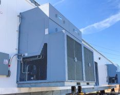VFD E-house showing substantial HVAC units